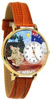 Whimsical Watches Women's G1420001 Unisex Gold Australia Tan Leather And Goldtone Watch