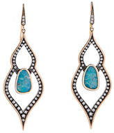 Moritz Glik Turquoise and Diamond Earrings