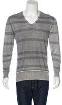 John Varvatos Striped Knit Sweater