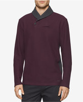Calvin Klein Men's Contrast Shawl-Collar Sweater, A Macy's Exclusive Style
