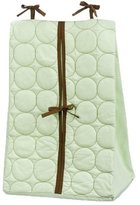 Bacati Quilted Circles Green/Chocolate Diaper Stacker
