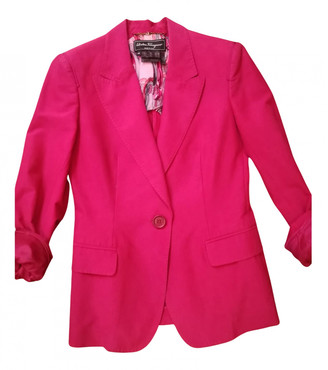 Salvatore Ferragamo Red Cotton Jackets