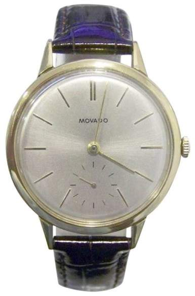 Movado 18K Yellow Gold 33mm Mens Watch 1950s