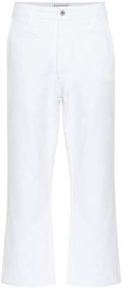 Loewe Cropped high-rise wide-leg jeans
