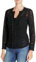 Rebecca Taylor Florence Embellished Silk Blouse