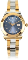 Salvatore Ferragamo 1898 Gold IP and Silver Tone Stainless Steel Women's Watch