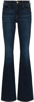 Frame Le High mid-rise flared jeans