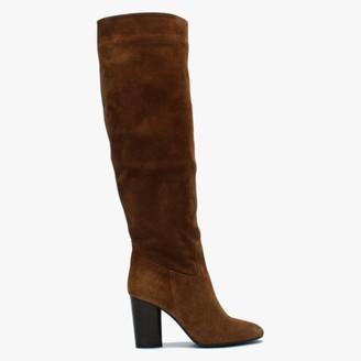 Daniel Lorna Black Suede Block Heel Over The Knee Boots