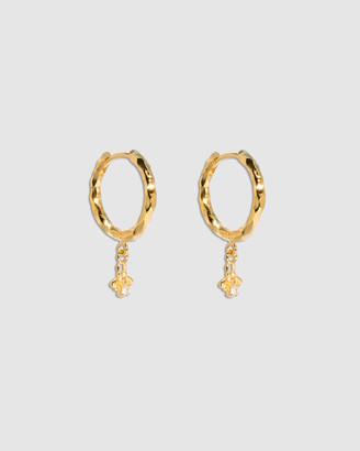 Molten Store The Gold Diamond Bee Hoop Earrings