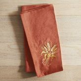 Pier 1 Imports Embroidered Harvest Wheat Napkin