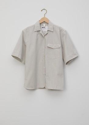Mhl By Margaret Howell Irregular Fine Stripe Safari Shirt