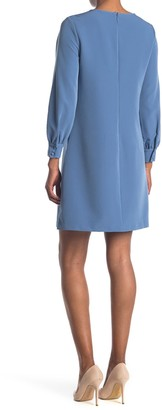 T Tahari Long Sleeve A-Line Dress