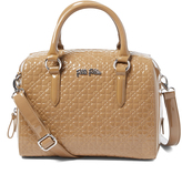 Folli Follie Gray Small Floral-Embossed Satchel