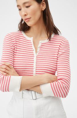 Rebecca Taylor La Vie Striped Henley Pullover