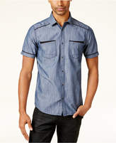 INC International Concepts Men's Shiny Chambray Shirt, Only at Macy's