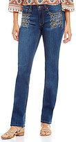 Reba Jayden Studded Straight Leg Jean