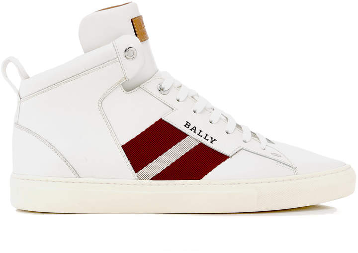 Bally Hedern High-Top Leather Sneakers