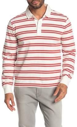 Frame Stripe Print Rugby Shirt