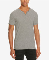 Kenneth Cole Reaction Men's Striped Split-Neck T-Shirt