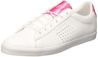 Le Coq Sportif Women's Agate Trainers, Optical White/Pink Carnation