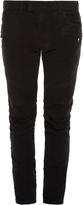 Balmain Biker striped-side skinny jeans
