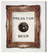 Oliver Gal Press For Beer Canvas Wall Art