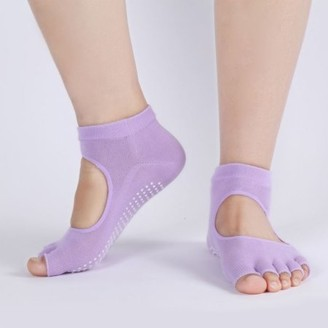 Its All Goods Non-Slip Pilates Socks-Purple
