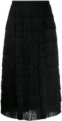Marco De Vincenzo Layered Fringe Skirt