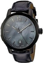 Tissot Quartz Stainless Steel Dress Watch, Color:Black (Model: T0954103612700)