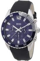 HUGO BOSS Men's 1512803 Blue Leather Quartz Watch
