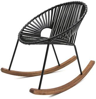 Mexa Ixtapa Rocking Chair - Black Leather