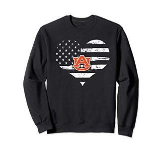 Tailgate Auburn Tigers Football Heart Flag Student Game day Sweatshirt