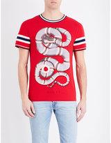 Gucci Snake Print Cotton-shirt