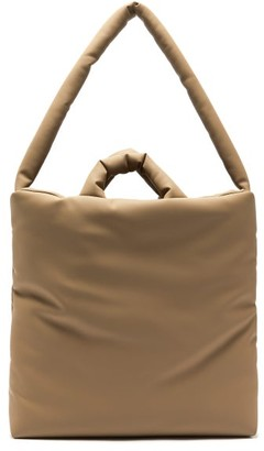 Kassl Editions Rubber Medium Padded Canvas Tote Bag - Mid Brown