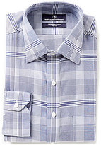 Hart Schaffner Marx Non-Iron Fitted Classic-Fit Spread-Collar Plaid Dress Shirt