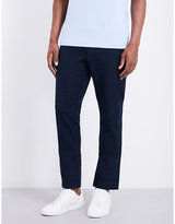 Michael Kors Slim-fit Straight Linen And Cotton-blend Trousers