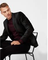 Express slim black velvet tuxedo jacket
