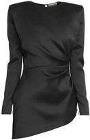Saint Laurent Ruched Silk Mini Dress