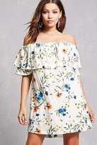 Forever 21 FOREVER 21+ Tassels N Lace Flounce Dress