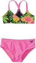 Roxy Girls' In the Tropics Tie Back Swimsuit Set (716) - 8145120