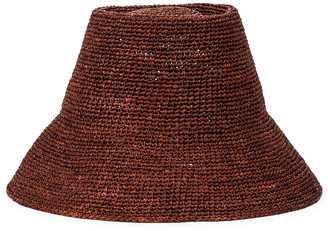 Janessa Leone Felix Packable Hat in Chocolate | FWRD