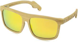 Earth Wood Earthwood Unisex-Adult Aroa Wood Sunglasses ESG050B Polarized Square Sunglasses