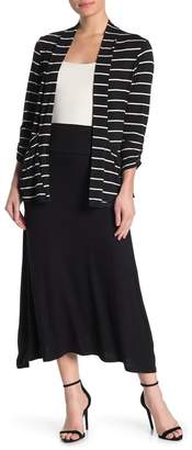 Bobeau Pull-On Jersey A-Line Midi Skirt