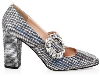Sarah Jessica Parker Celine Glitter Mary Jane Pumps