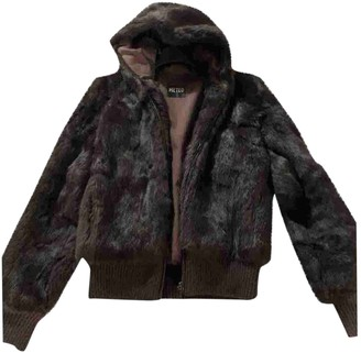 Meteo Brown Rabbit Jacket for Women