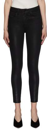 L'Agence 'Margot' coated skinny jeans