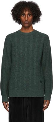 Kenzo Green Textured Sweater