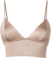Fleur Du Mal triangle longline bra - women - Spandex/Elastane/Acetate - XS