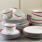 Williams-Sonoma Brasserie Red-Banded Porcelain Dinnerware Place Settings
