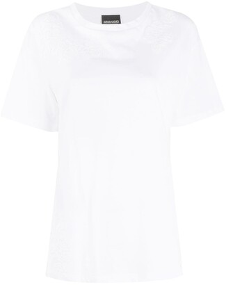 Ermanno Ermanno lace embroidered T-shirt